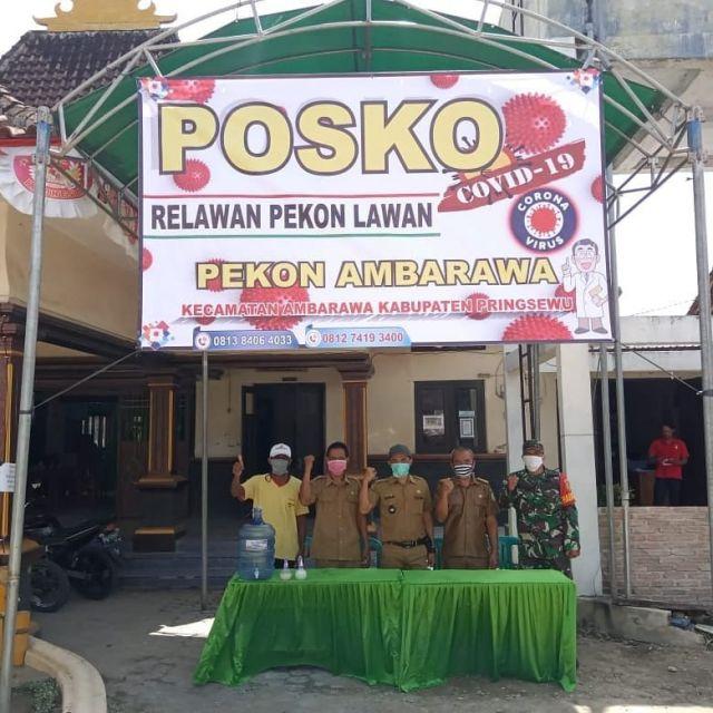 Kecamatan Ambarawa Mempersiapkan Posko-Posko Relawan Gugus Tugas Penanganan Percepatan Covid-19
